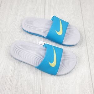 Nike Kawa Blue/Grey Women's Slide 7, 8
